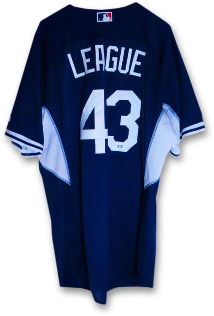 Brandon League LA Dodgers Team Issue Batting Practice Jersey #43 MLB JB085049