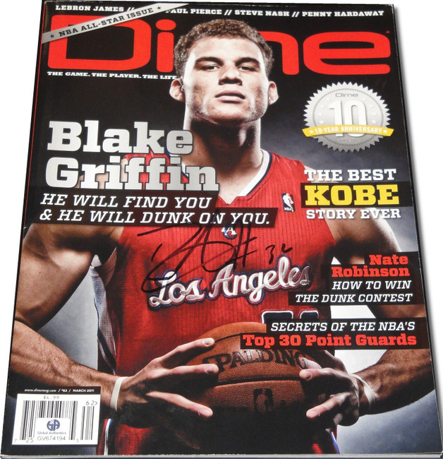 Blake Griffin  Signed Autographed Dime Full Intact Magazine LA Clippers GA COA