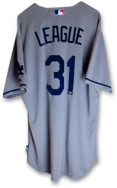 Brandon League Team Issued Jersey LA Dodgers 2013 Road Gray #31 MLB Holo