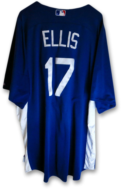 A.J. AJ Ellis Team Issued 2013 Dodgers Batting Practice Jersey #17 MLB EK645230