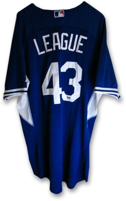 Brandon League Team Issue 2014 Dodgers Batting Practice Jersey #43 MLB HZ515249