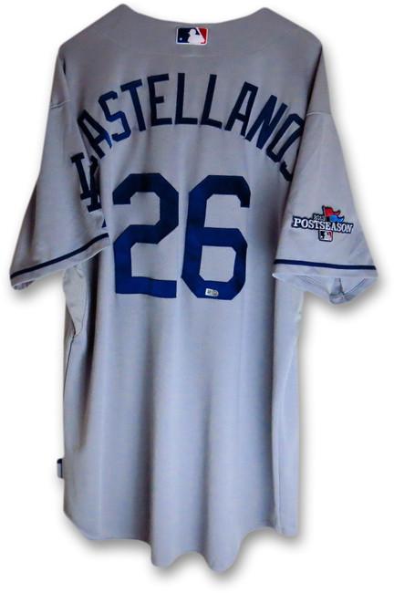 Alex Castellanos Team Issued Jersey Dodgers 2013 Road Playoff #26 MLB HZ844024