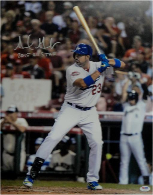 Adrian Gonzalez Autographed 16X20 Photo Dodgers  2015 All Star Award PSA/DNA