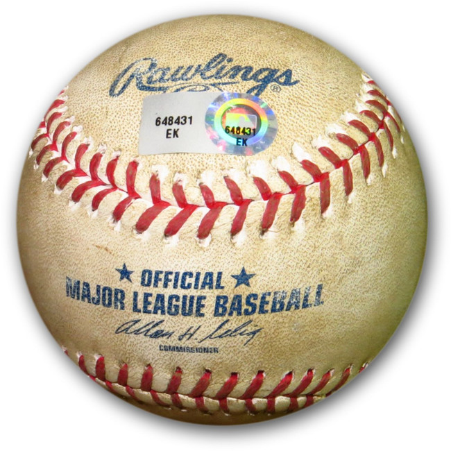 Adrian Gonzalez Game Used Baseball 6/1/14 Dodgers Volquez Foul Ball EK648431