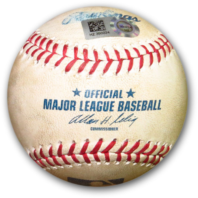 Clayton Kershaw Game Used Baseball 9/8/14 Dodgers Foul Ball vs. Padres HZ350224