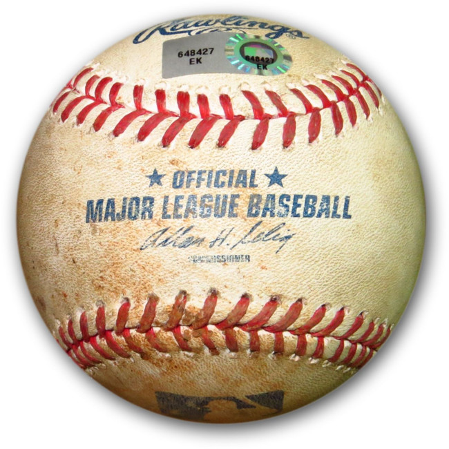Adrian Gonzalez Game Used Baseball 6/1/14 Dodgers Volquez Foul Ball EK648427