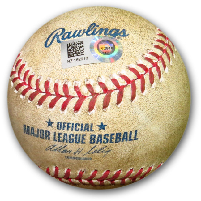 Carl Crawford Game Used Baseball 8/30/13 Dodgers Hit Single vs. Padres HZ162918