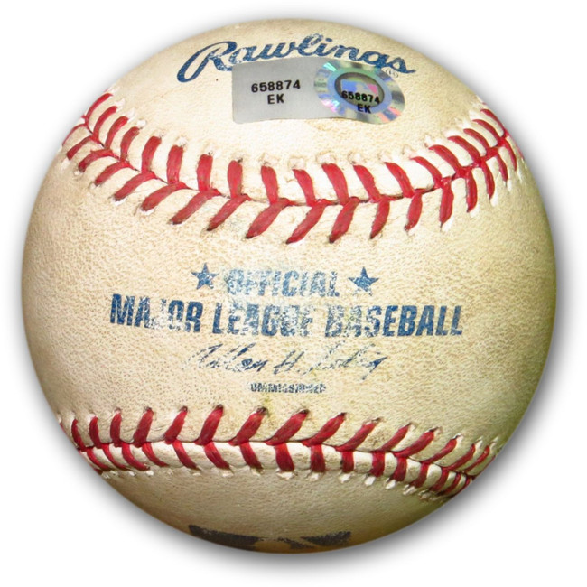 Andre Ethier Game Used Baseball 8/30/13 - Foul Ball vs. Padres Stults EK658874