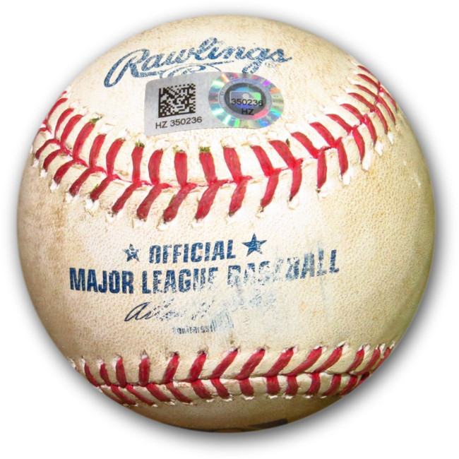 Andrew Cashner Game Used Baseball 9/9/14 Padres Hit RBI Double Dodgers HZ350236