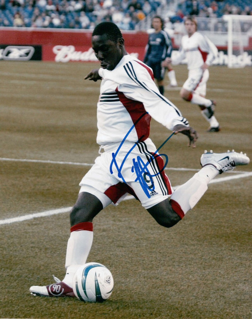 Freddy Adu Signed Autographed 8X10 Photo Soccer Phenom Kicking w/COA
