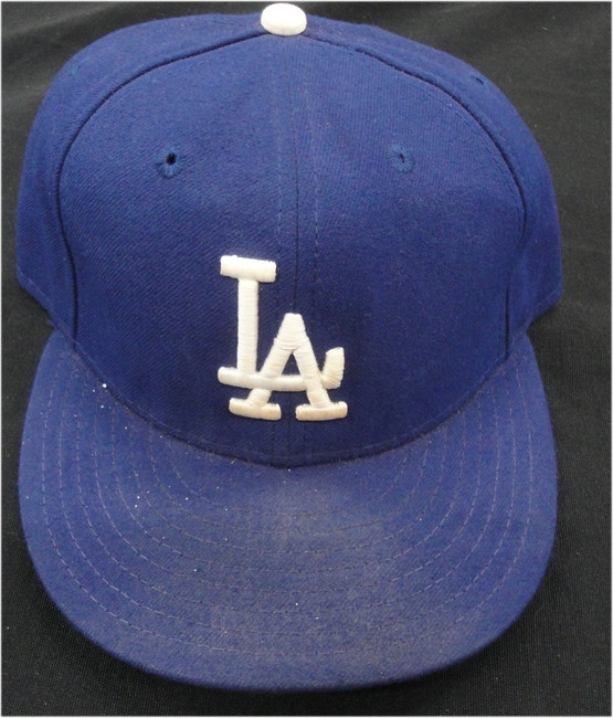 #40 Los Angeles Dodgers Team Issued Baseball Cap Hat  HZ 167039 Shows Use