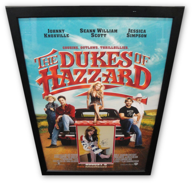 Jessica Simpson 8x12 Photo Framed into a The Duke Of Hazzard Poster 30x43 GV 702