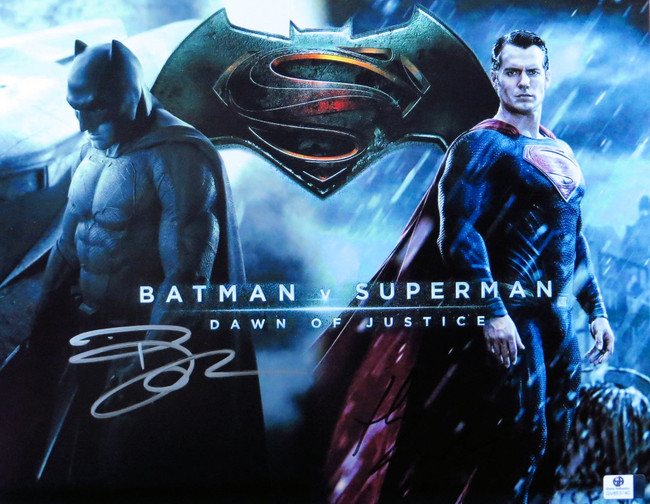 Ben Affleck Henry Cavill Signed Autographed 11X14 Photo Batman v Superman 853740