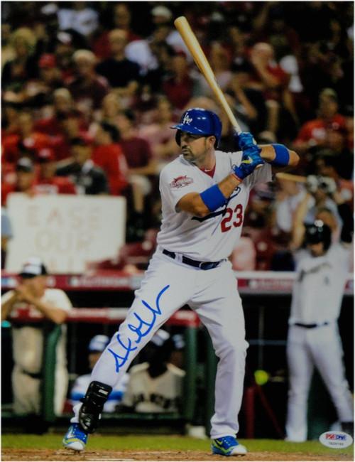 Adrian Gonzalez Hand Signed Autographed 11X14 Photo Dodgers On Leg PSA/DNA