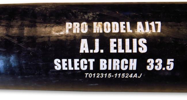 A.J. Ellis Player Used Trinity Bat Los Angeles Dodgers Pro Model Black JB085541