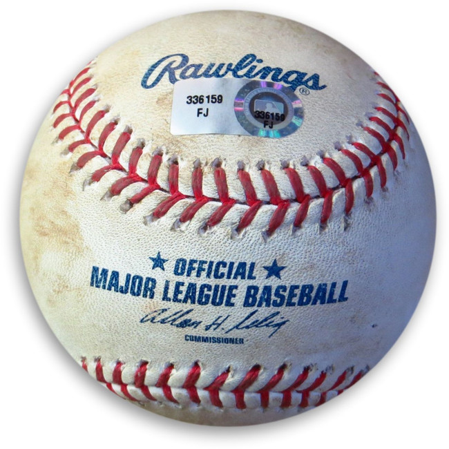 Andre Ethier Game Used Baseball 5/28/11 Dodgers Hit Double off Sanches FJ336159