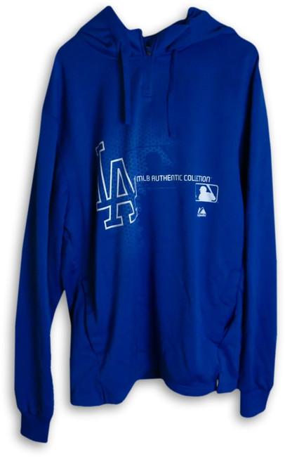 A.J. Ellis 2013 Player Worn LA Dodgers Hoodie Fleece Team Issue XL EK645411