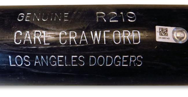 Carl Crawford Player Used Bat Dodgers Playoffs Team Issue 10/11/13 EK885143
