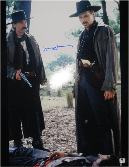 Val Kilmer Hand Signed 16x20 Photo Tombstone W/ Kurt Russell GA GV Global COA