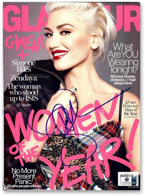 Gwen Stefani Signed Autographed Glamour Magazine December 2016 Issue GV857895