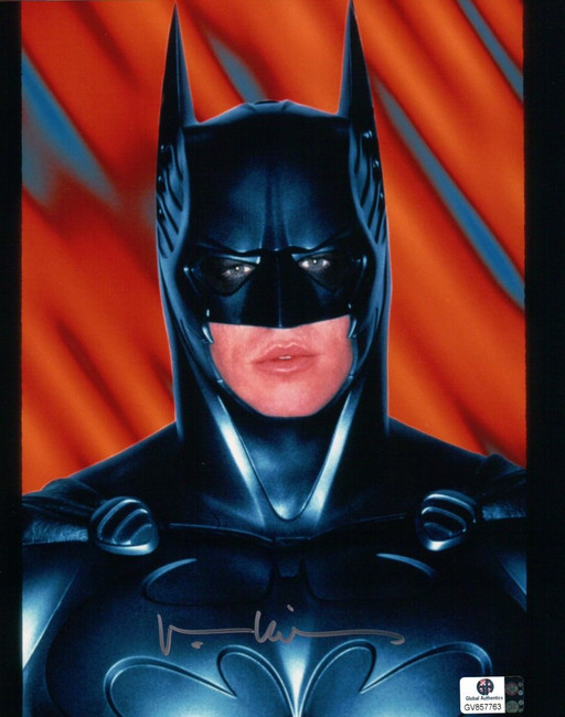Val Kilmer Signed Autographed 8X10 Photo Batman Forever In Suit Headshot GA