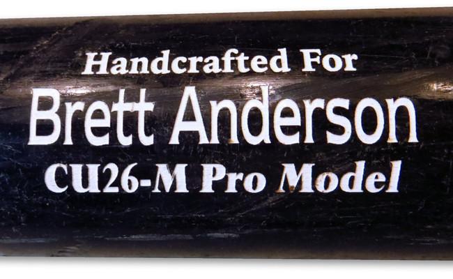 Brett Anderson Player Used Marucci Custom Cut Bat Los Angeles Dodgers JB085658