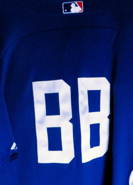 Bat Boy Team Issue Batting Practice Jersey LA Dodgers #BB Size 44 No Lettering