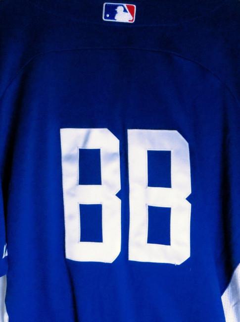 Bat Boy Team Issue Batting Practice Jersey LA Dodgers #BB Size 46 No Lettering