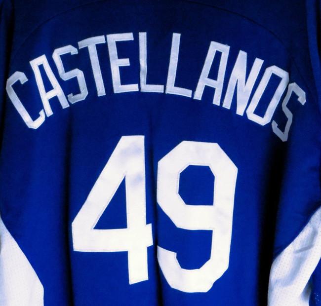 Alex Castellanos Team Issue Batting Practice Jersey 2011 LA Dodgers #49 Size 46