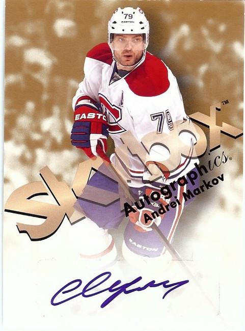 Andrei Markov 2012-13 Fleer Retro Skybox Autographics Autograph Canadiens #AM