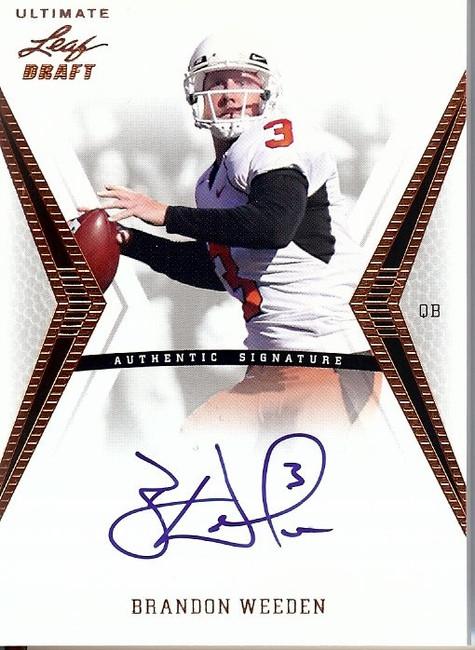 Brandon Weeden 2012 Ultimate Leaf Draft Auto Autograph QB Texans #BW1