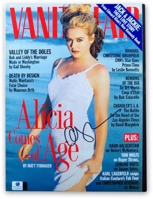 Alicia Silverstone Signed Autographed Vanity Fair Magazine 1996 Sexy GV862632