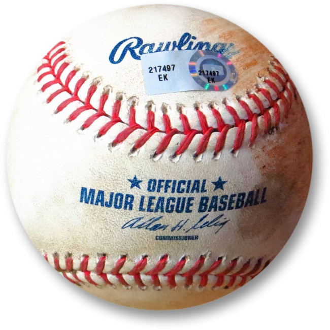 Clayton Kershaw Game Used Baseball Dodgers 6/5/13 Pitch to Jesus Guzman EK217497