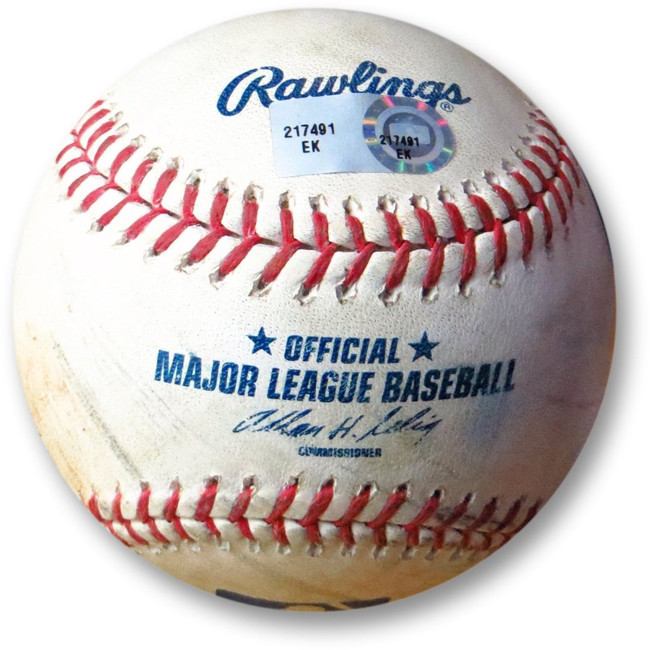 Clayton Kershaw Game Used Baseball Dodgers 6/5/13 Jesus Guzman Foul Ball 217491