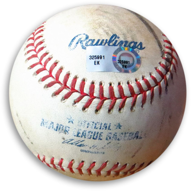 Adrian Gonzalez Game Used Baseball Dodgers 9/11/13 Foul Ball vs. Corbin EK325991