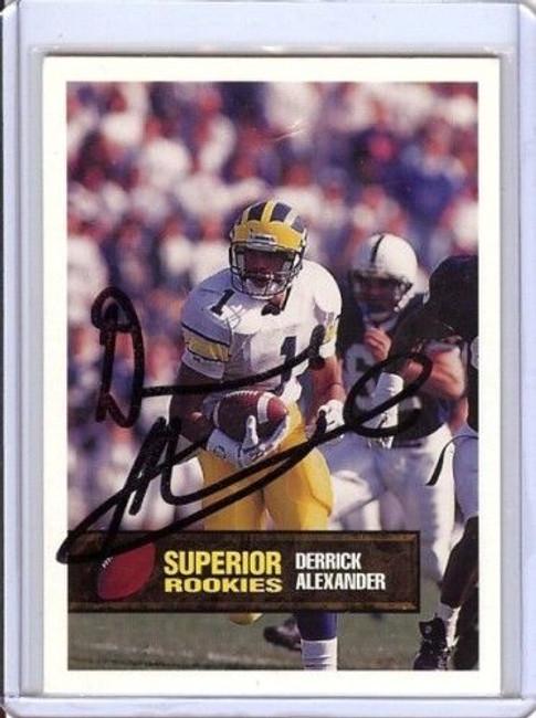 Derrick Alexander 1994 Superior Rookie Auto Autograph