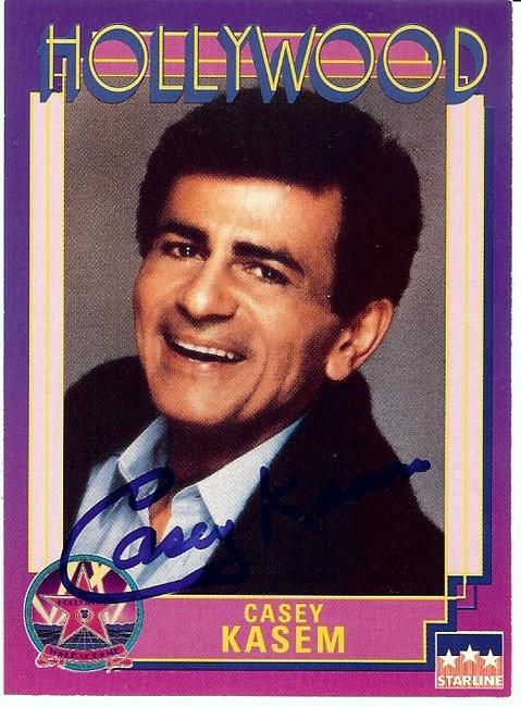 Casey Kasem Signed Autographed 1991 Starline Trading Card Disc Jockey GX19686
