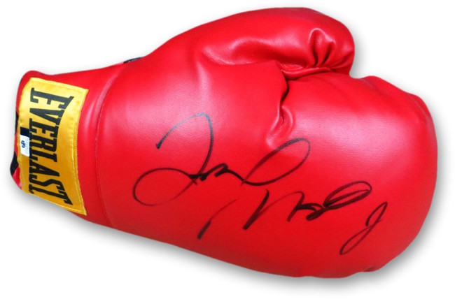 Floyd Mayweather Jr Signed Autographed Everlast Boxing Glove Red Right GV865434