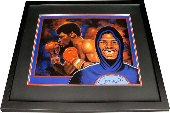Leon Spinks Hand Signed Autographed 16x20 Photo Custom Framed Missing Tooth