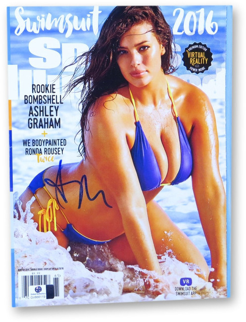 Ashley Graham Signed Autographed Sports Illustrated 2016 Swimsuit Edition 866119