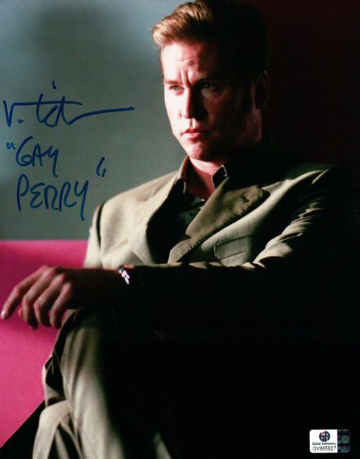 """Val Kilmer Signed Autographed 8X10 Photo Kiss Kiss Bang Bang """"Gay Perry"""" GA"""