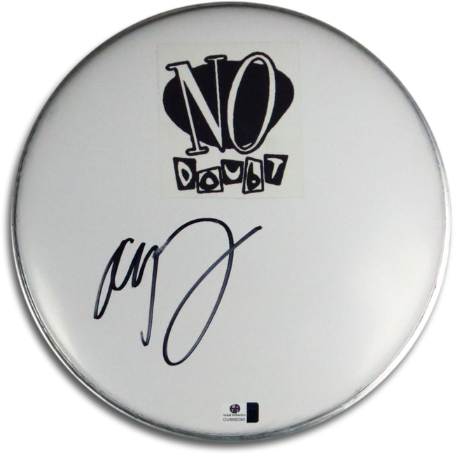 "Adrian Young Signed Autographed 10"" White Drumhead No Doubt Drummer GV866090"