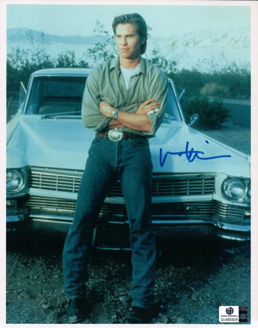Val Kilmer Signed Autographed 8X10 Photo Classic Vintage Pose w/Car GA