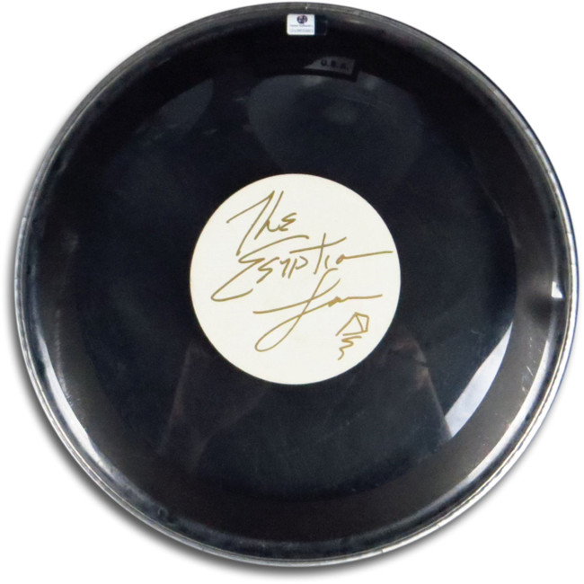 "Egyptian Lover Greg Broussard  Signed Autographed 12"" Drumhead Clear GV865993"