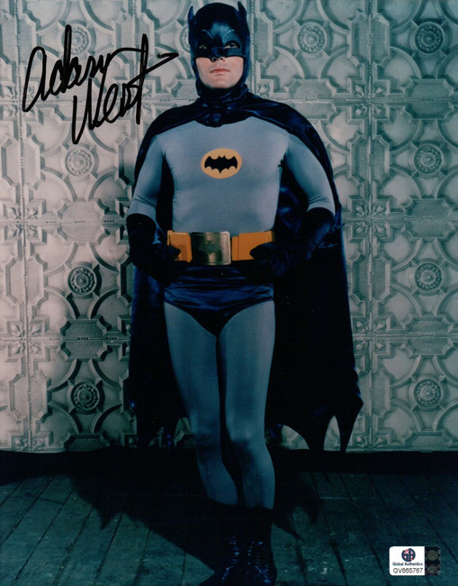 Adam West Signed Autographed 8X10 Photo Batman Pose Against Wall Color GA