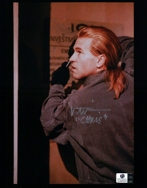 "Val Kilmer Signed Autographed 8X10 Photo Heat Inscribed ""Chris"" Robbing  GA"