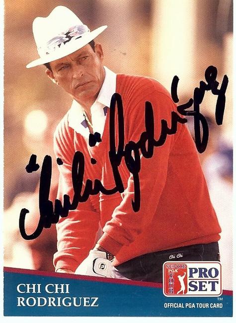 Chi Chi Rodriguez Signed Autographed Trading Card 1991 Pro Set PGA #193 GV865899