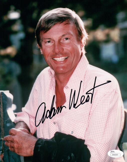 Adam West Signed Autographed 8X10 Photo Batman Smiling Headshot Family Guy JSA