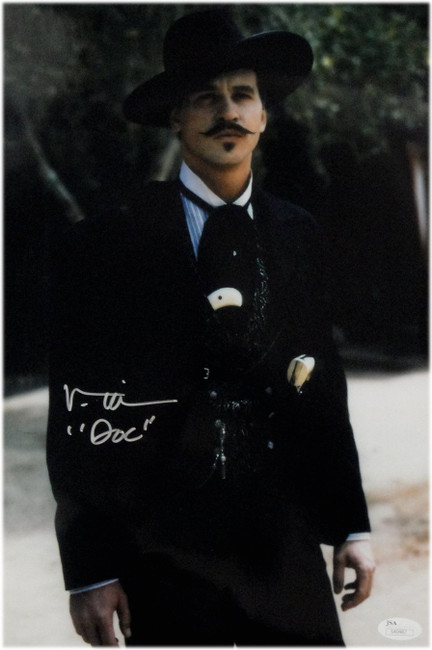 "Val Kilmer Hand Signed Autographed 10x15 Photo Tombstone ""Doc"" JSA COA"