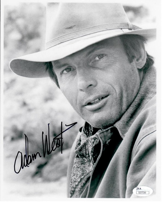Adam West Hand Signed Autographed 8X10 Photo  B&W on Batman In Hat JSA S37720